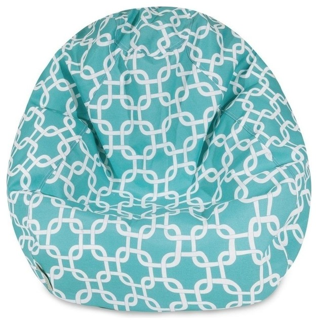 Links Classic Bean Bag Teal Contemporary Chairs