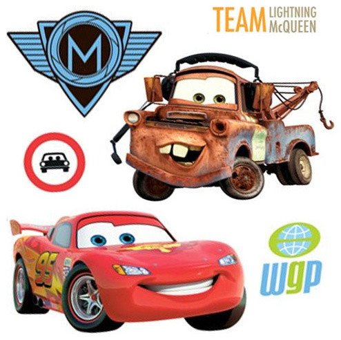 26pc Disneyu0027s Cars 2 McQueen Accent Decal Wall Stickers contemporary-wall- decals