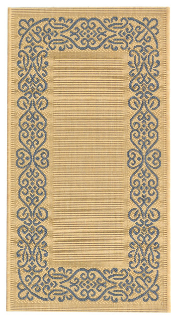 Natural And Blue All Weather Rug 2 X3 7 Quot Mediterranean