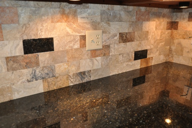 granite countertops and tile backsplash ideas eclectic - Granite Countertops With Backsplash