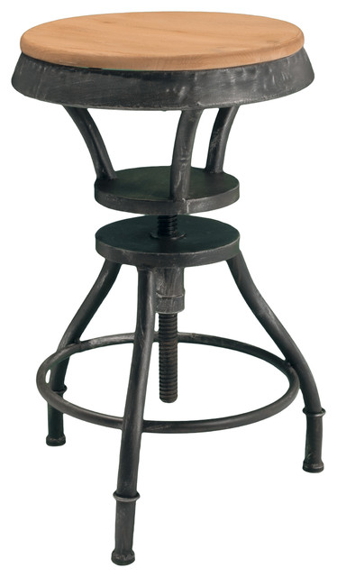 GDFStudio Henry Adjustable Bar Stool Bar Stools And  : industrial bar stools and counter stools from www.houzz.com size 374 x 640 jpeg 39kB