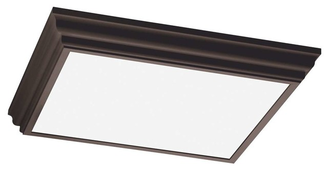 Sea Gull 59360le 790 Drop Lens Fluorescent Kitchen Light Oil Rubbed Bronze Traditional