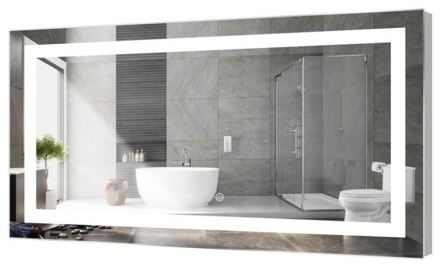 "Kent LED Bathroom Mirror With Touch Sensor, 60""x30"""