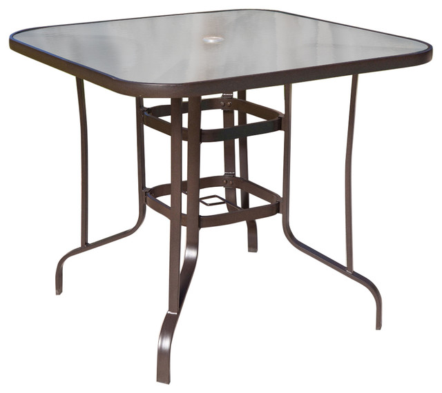 40 Outdoor Patio Dining Table With Glass Top And Umbrella Hole Outdoo