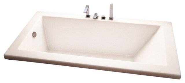 """72""""x32"""" Zen Drop-In Acrylic Rectangular Bathtub, Soaker."""