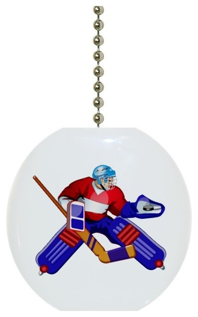 Goalie Hockey Player Ceiling Fan Pull Traditional Accessories By Carolina Hardware And Decor Llc