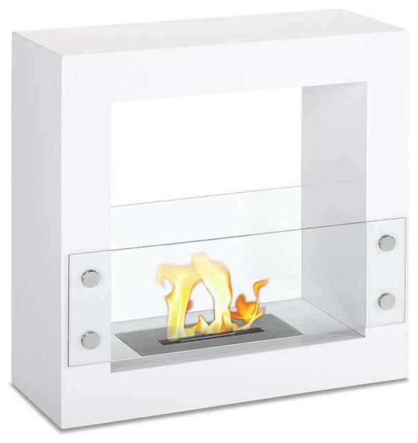Tectum Fireplace, White.