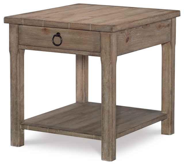 Legacy Classic Furniture Monteverdi End Table In Sun Bleached Cypress 7500 405