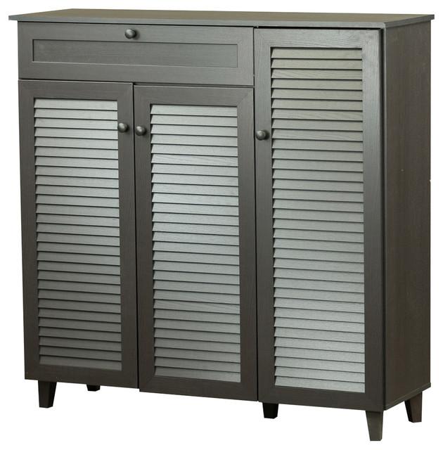 Pocillo Shoe Storage Cabinet, Dark Brown.