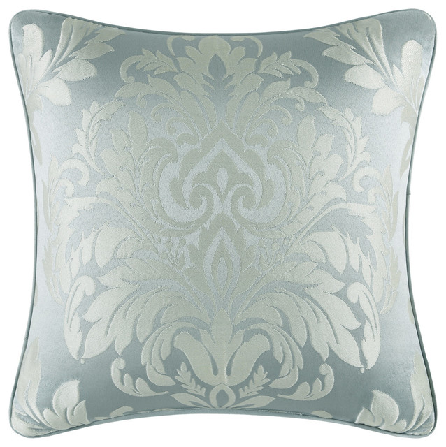 """Faith Square Pillow, French Blue, 18""""."""