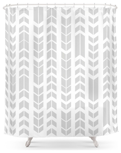 Society6 Black And White Aztec Shower Curtain Contemporary Shower Curtains  Contemporary Shower Curtains
