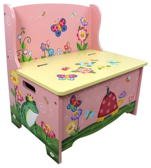 Cool Fantasy Fields Magic Garden Childrens Kids Wooden Toy Storage Bench Ocoug Best Dining Table And Chair Ideas Images Ocougorg