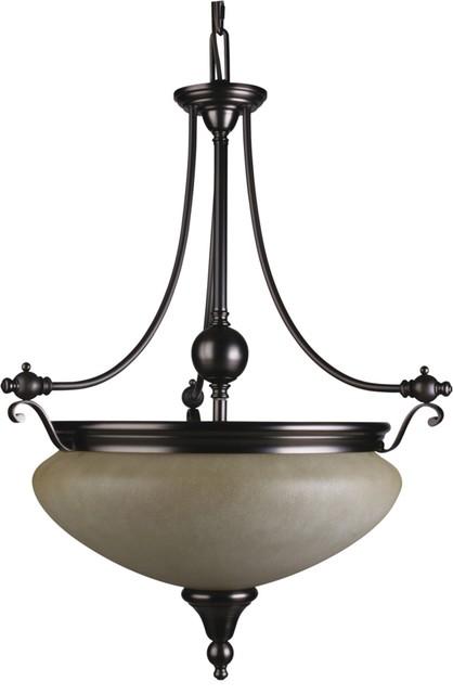camden 3 light florence bronze interior pendant