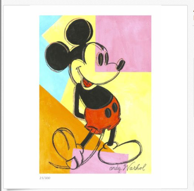 Mickey Mouse Lithograph by Andy Warhol - Prints And Posters - by DAG ...