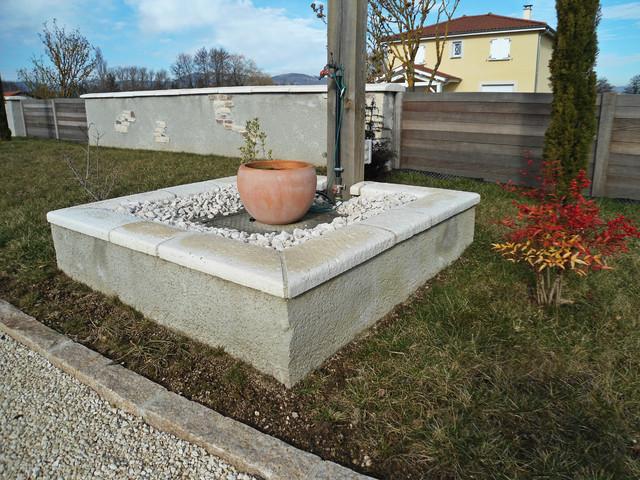 habillage du puits moderne accessoire de fontaine et bassin de jardin autres p rim tres. Black Bedroom Furniture Sets. Home Design Ideas