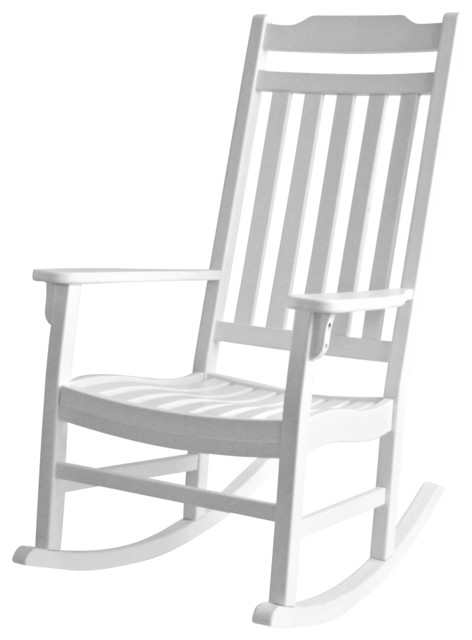 Decor Americana World s Finest Rocker White Outdoor Rocking Chairs