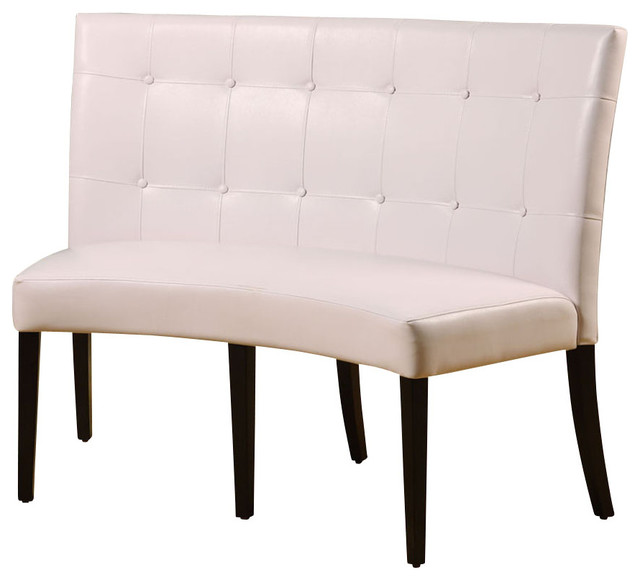 Modus Furniture International Inc   Modus Bossa Dining Height Leatherette  Banquette   White   Dining Benches