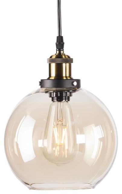 Globe Mini Pendant Lamp In Amber.