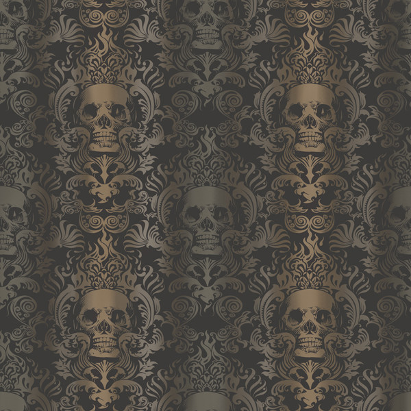 Luther Sand Skull Modern Damask Wallpaper Wallpaper  : eclectic wallpaper from www.houzz.com size 600 x 600 jpeg 145kB