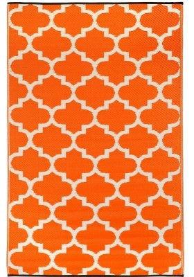 Lovely 4u0027x6u0027 Reversible Indoor And Outdoor Area Rug, Orange White Trellis Pattern  Mediterranean