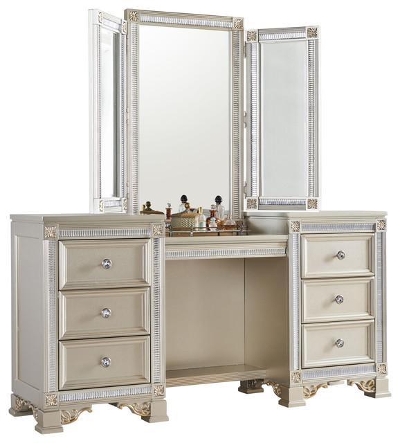 Tiffany Vanity Traditional Bedroom And Makeup Vanities