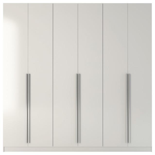Manhattan Comfort Eldridge Freestanding Wardrobe In White 34184