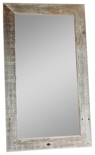 Mybarnwoodframes Rustic Barnwood Mirror Flat Wood