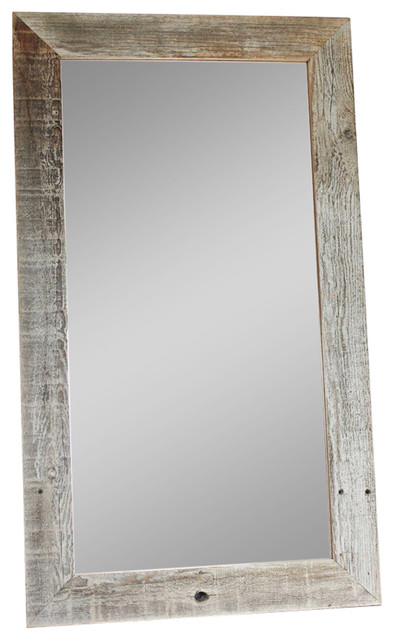 Barn Wood Mirror Rustic Home Decor: Rustic Barnwood Mirror, Flat Wood Homestead Style