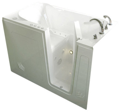 "30""x54"" Walk-In Ada Bathtub, Right, Whirlpool Massage System."