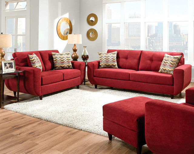 Killington Cayenne Sofa and Loveseat Set - Transitional - Columbus - by American Freight ...