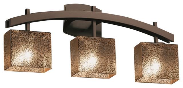 Fusion Archway 3-Light Bath Bar, Mercury Glass Shade - Contemporary - Bathroom Vanity Lighting ...