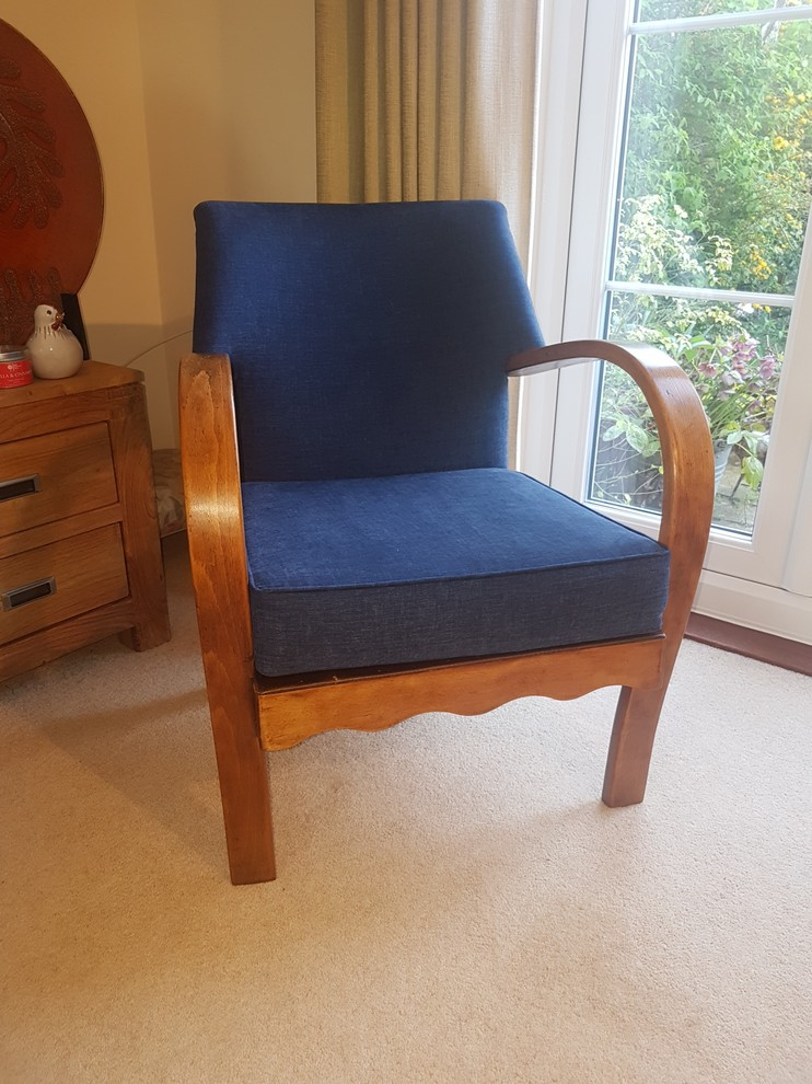 Commission - Bent wood armchair reupholstery