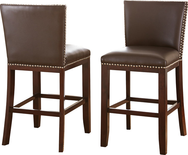 Tiffany Counter Chairs Set Of 2 Transitional Bar