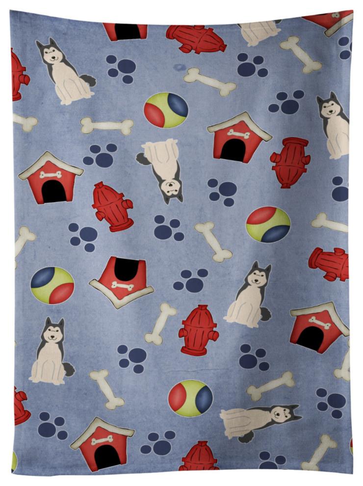 Bb2638ktwl West Siberian Laika Spitz Kitchen Towel 25x15 Multicolor Contemporary Dish Towels By Virventures