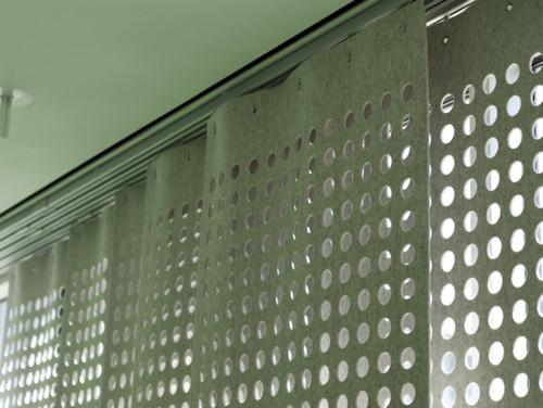 Wool Felt Perforated Panel Set modern curtains