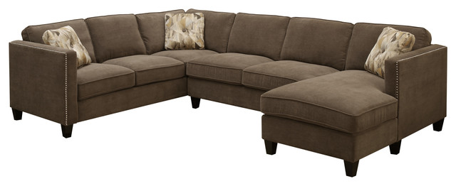 emerald home focus 3piece sectional chocolate