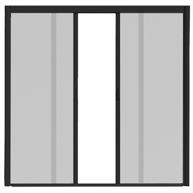 Visiscreen double panel retractable screen door for Retractable double screen door