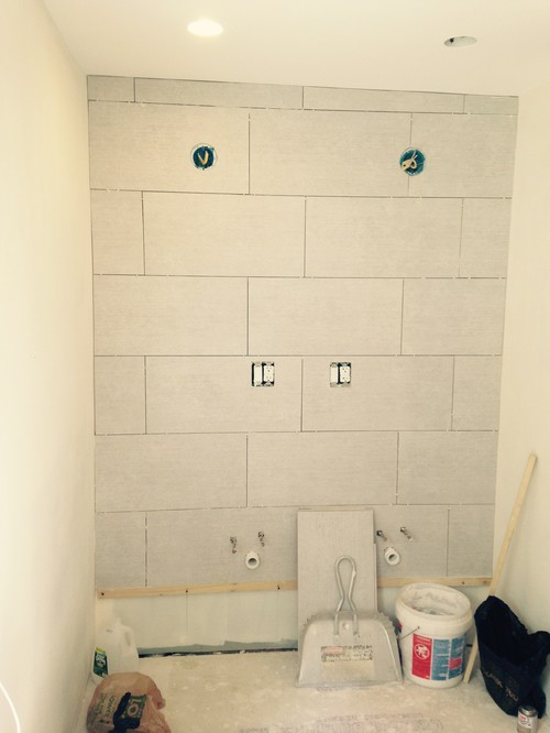 HELP PLEASE - Did my Tiler handle the uneven ceiling correctly?