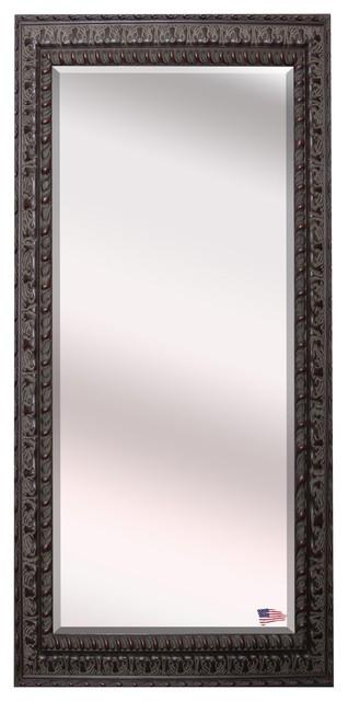Us Made Dark Embellished Beveled Oversized Full Body Mirror, Oversized.