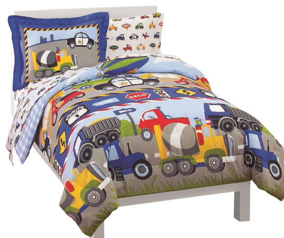 trucks tractors cars twin comforter set