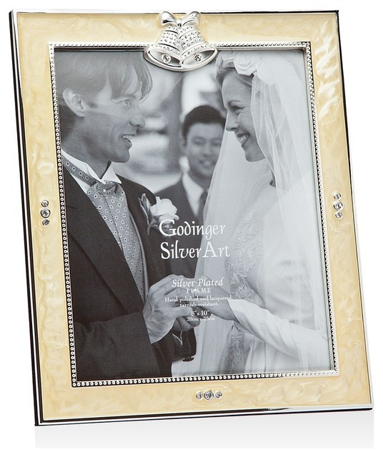 Wedding Frame White Epoxy 8x10 Contemporary Picture Frames By Godinger Silver