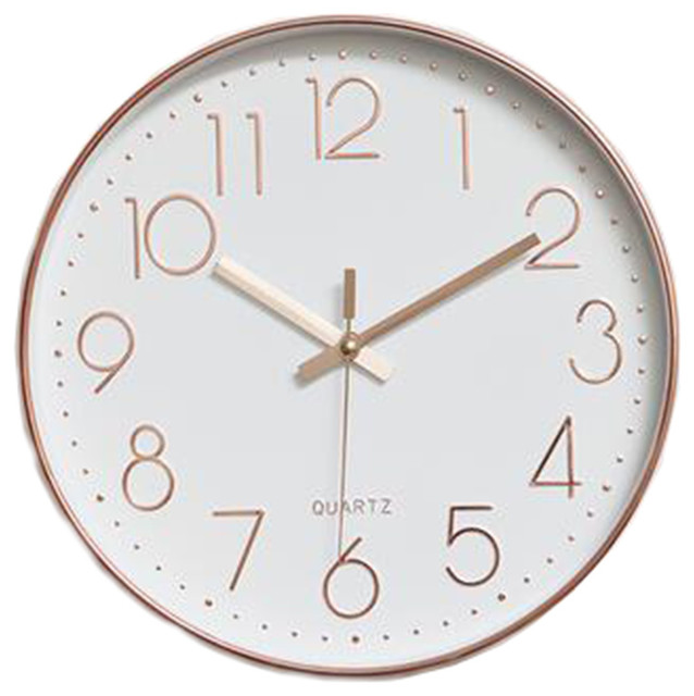 Nordic Decorative Wall Clock Classic Round Hanging Clocks Non Ticking 3 Contemporary Wall Clocks By Blancho Bedding