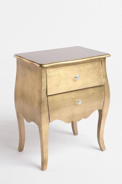 Brass Leaf Side Table