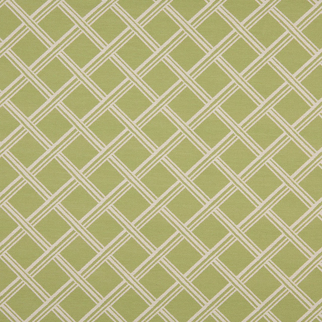 Light Green And Beige Diamonds Indoor Outdoor Upholstery Fabric By ...