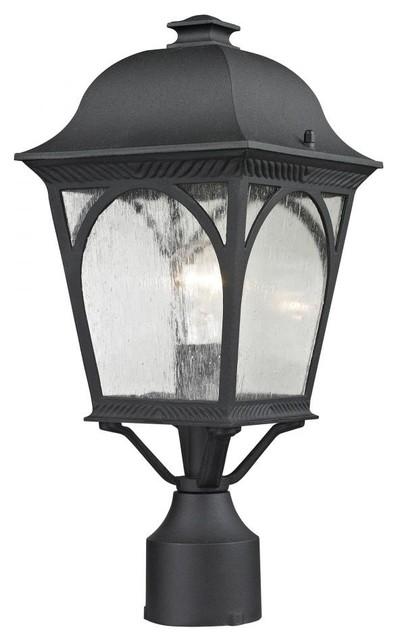 Cape Ann 1-Light Outdoor Pendant Lantern, Matte Textured Black