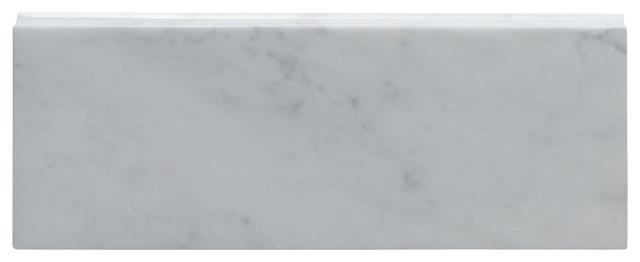 5 Quot X12 Quot Carrara White Baseboard Trim Molding Polished