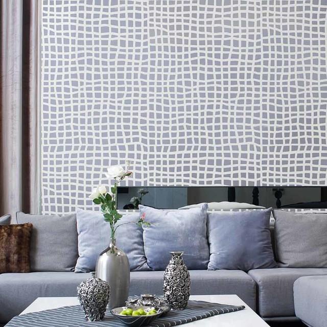 Mesh Allover Stencil, Modern Pattern Design Stencils, Better Than Wallpaper  Contemporary Wall  Part 79