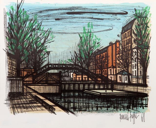Pleasing Bernard Buffet Canal St Martin Lithograph Download Free Architecture Designs Momecebritishbridgeorg