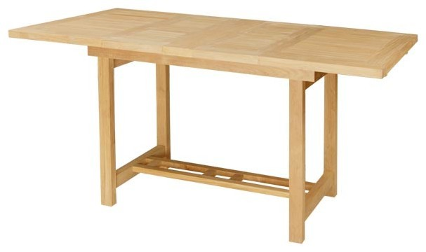Winterville Double Rectangular Extension Table Thick Wood Farmhouse Dini