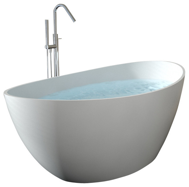 Badeloft UPC Certified Stone Resin, Freestanding Bathtub ...
